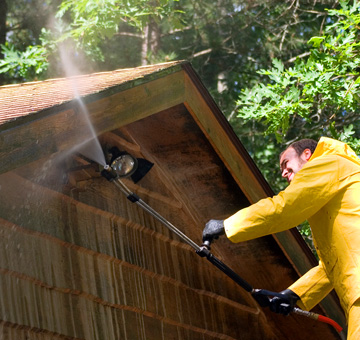 Residential Pressure Washing by Evergreen Law Care in Gainesville, FL