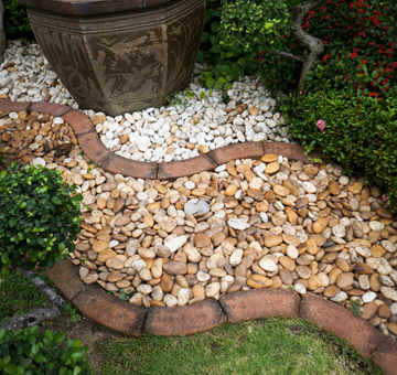 Rock Mulching by Evergreen Law Care in Gainesville, FL
