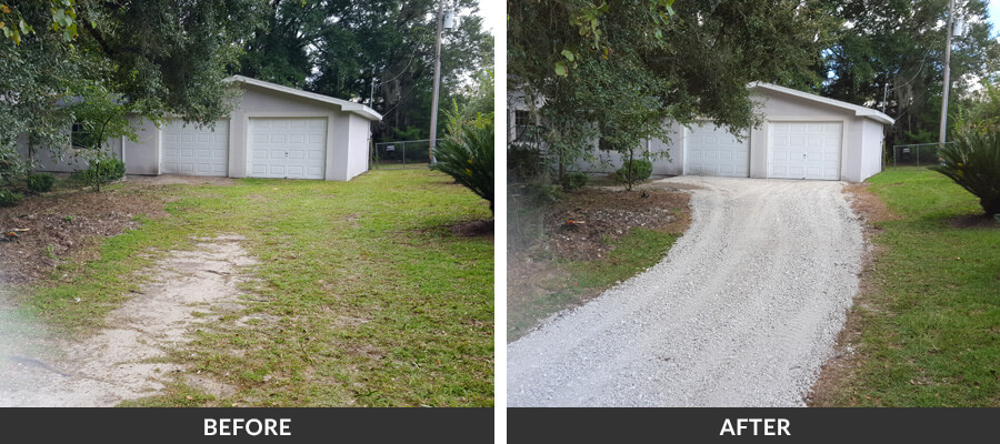 Recycled Concrete Rock Driveways In Gainesville Fl